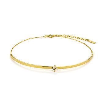 Ania Haie Sterling Prata Brilhante Ouro Banhado Cluster Choker N018-04G