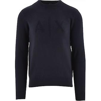Armani Exchange Navy Regular Fit Sweatshirt