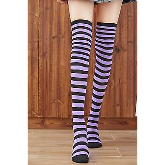 Casual Cotton Thigh High Over Knee Acrylic High Socks