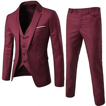 3pcs/set Men Formal Blazer +vest +pants Suits Sets
