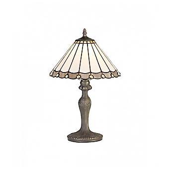 Lámpara De Mesa Tiffany Calais 1 Bombilla Gris 40,5 Cm