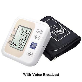 مقياس ضغط الدم الإلكتروني ذراع 2 نمط اختياري مقياس طن تلقائي مع / بدون صوت بث مراقبة ضغط الدم