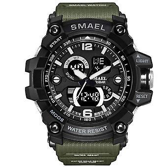 Στρατιωτικό ρολόι ατόμων, αδιάβροχο, ρολόι καρπών, οδηγημένο ρολόι χαλαζία, αρσενικό ψηφιακό