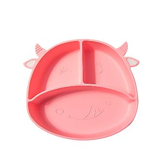 YANGFAN Silicone Divided Toddler Baby Plates Portable Dinner Plates for Kids