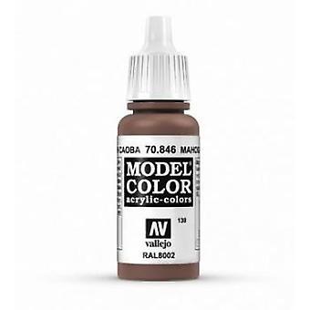 Vallejo Model Color 17ml Acrylic Paint - 846 Mahogany Brown