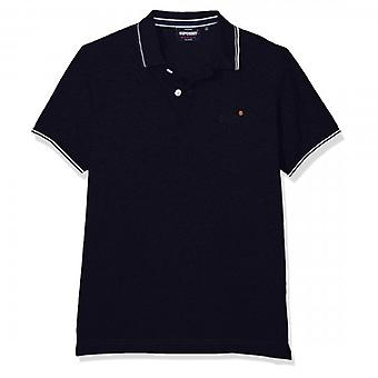 Superdry Classic Poolside Pique S/ S Number Polo Navy Twist 3FX