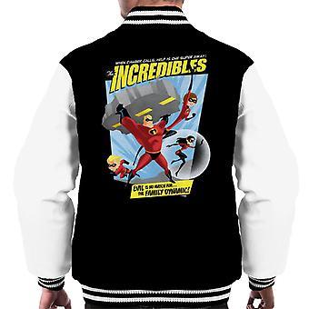 Pixar The Incredibles Evil is geen partij voor de familie dynamische mannen 's Varsity Jacket