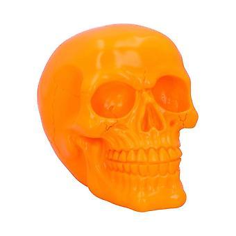 Nemesis Now Psychedelic Fluorescent Skull Orange Figurine 15.5cm