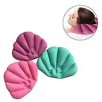 Soft Badeværelse Pillow Home Komfortabel Spa Oppustelige Badebægre Shell Formet