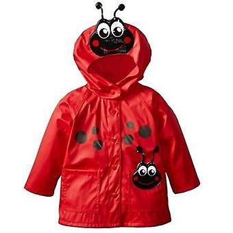 Girls Raincoat Toddler Hooded Frog Ladybug Flower Dinosaur Pattern Waterproof
