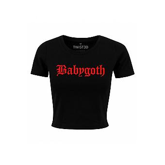 Twisted Apparel Baby Goth Crop Top