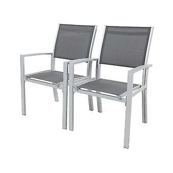 """Zestaw 2 krzeseł ogrodowych- tekstylny &Tropic"""" - Phoenix - ciemnoszary"""