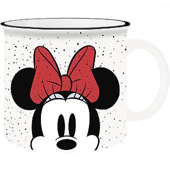 Disney Minnie Ratón Asomando 20oz Ceramic Camper Mug