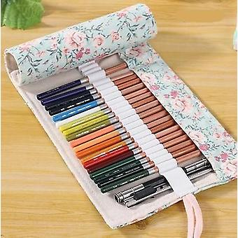 Flower Roll Pencil Bag , Floral Roller Pencil Case For School Student