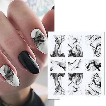 Skandynawski styl abstrakcyjne naklejki na naklejki wody do zdobienia paznokci