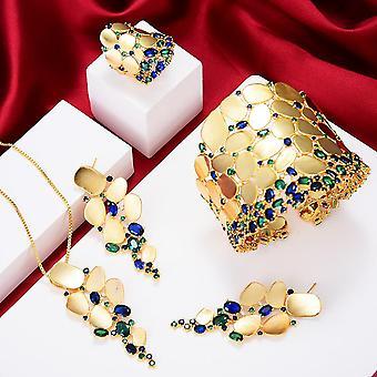 New Charms 3pc Bracelet Ring Earring Set