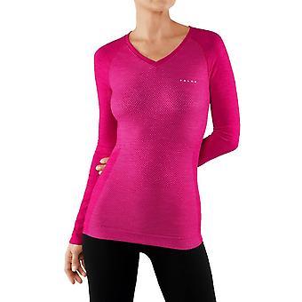 Falke Wool Tech Lekki t-shirt z długim rękawem - Berry Pink