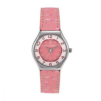 Lulu, Lulu, Mini STAR pink leather watch with patterns