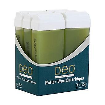 Lotions de cartouche de cire de rouleau DEO pour l'épilation à la cire - Aloe Vera - 100 ml - Paquet de 6