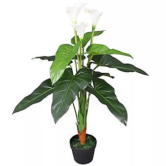 vidaXL keinotekoinen Calla Lily potilla 85 cm valkoinen
