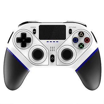 Gamepad P4010 بلوتوث جديد جويكتيك مع لوحة اللمس LED ضوء المتكلم (أبيض)