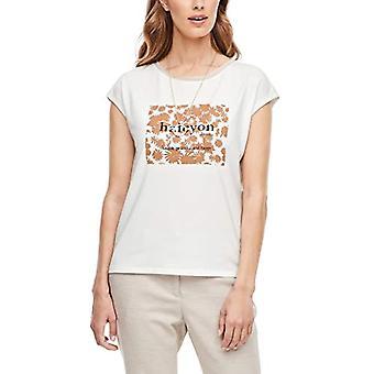 s.Oliver BLACK LABEL 150.10.008.12.130.2042506 T-Shirt, Cream Print, 50 Woman