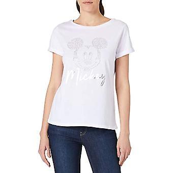 Springfield Camiseta Mickey Tachas T-Shirt, White, XS Woman