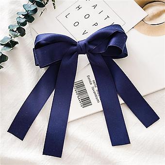Women's hair band bow ribbon hairpin spring clip