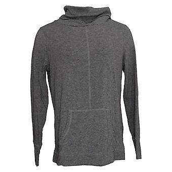 Enhver Kvinders Sweater Hyggelig Strik Cowl Neck Pullover Gray