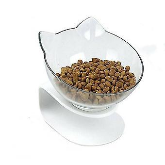 Yksi läpinäkyvä liukumaton ruokakulho, jossa on jalustakissa koiran vesikulho irrotettava lemmikkieläinten ruokinta az8850