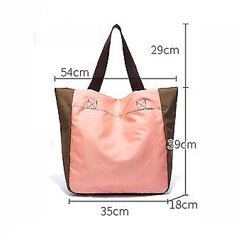 Uusi olkalaukku Taitettava ostoskassi Uudelleenkäytettävä Päivittäistavarakaupan tote käsilaukku Vedenpitävä ES9206