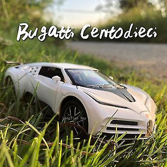 キッズカートイ 1:32 ブガッティダイキャストメタル合金車モデル 110周年記念エディション グッズ ホワイト