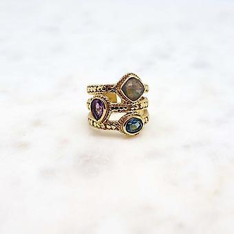 Bague Femme Niiki Paris - NCR061 - Violet - Collection Colors