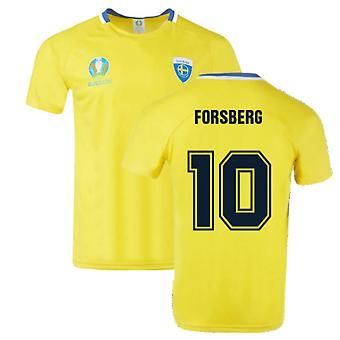 Sweden 2021 Polyester T-Shirt (Yellow) (FORSBERG 10)