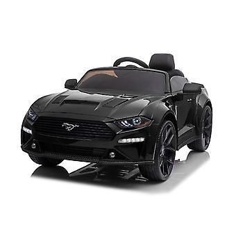 ES-Toys barnelbil Ford Mustang EVA däck, lädersäte, strålkastare, Mp3