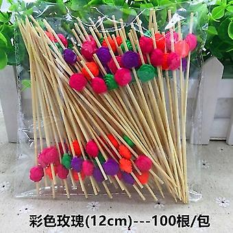 Disposable Christmas Fruit Fork Creative Cocktail Sign Pastry Decoration Sign /