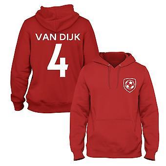 Virgil van dijk 4 clube estilo kids jogador de futebol hoodie