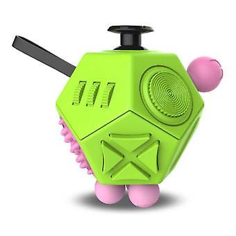 Stuff Certified® Fidget Cube 12 Seiten - Fidget Anti Stress Toy Silikon ABS Grün