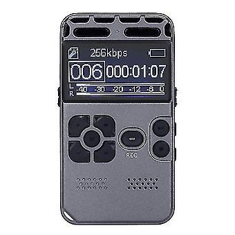 المحمولة 8GB قابلة لإعادة الشحن LCD الصوت الصوتي الرقمي
