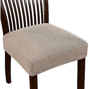 Stretch jacquard stol sätesöverdrag för matsal stolsstol slipcovers avtagbara tvättbara stol stol kudde slipcovers, sand