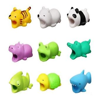 4PC Cute Cartoon USB Data Cable Protector Anti Breaking Protective Sleeve, Random Color and Style