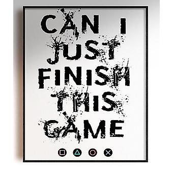 GnG Gaming A4 Word Quote Posters For Kids Bedrooms Artwork Can I finish PS