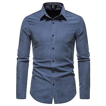Mile Men's Fashion Lapel Collar Long Sleeve Camicia formale Business Work Shirts
