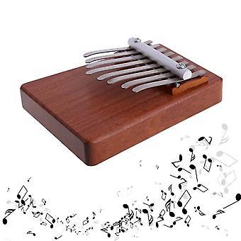 8 מקשים קלימבה Mbira כמוmbe Sanza אצבע אגודל פסנתר רוזווד כלי