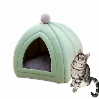 Warm In Winter, Removable And Washable Super Soft Pet Cat Litter (s Green)