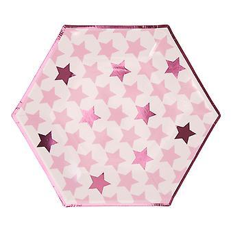 Pieni tähti vaaleanpunainen - suuret paperilevyt