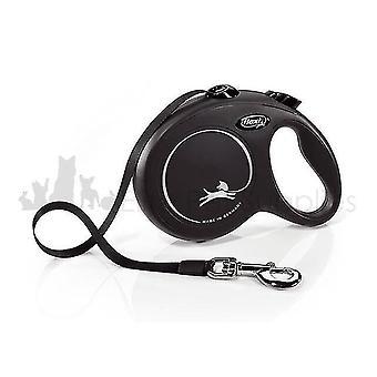 Pet leashes flexi classic tape retractable dog lead reflective 3m  5m or 8m