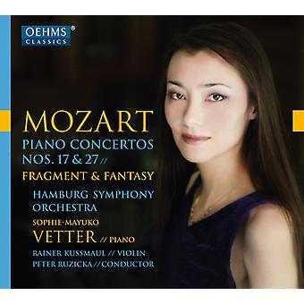 Mozart / Vetter / Kussmaul / Hamburg Symphony - Mozart: Piano Concertos Nos. 17 & 27 [CD] USA import