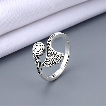 In der Größe veränderbare Vintage-Schmuckstücke aus antikem Silber, die die Finger ringe heben (F)
