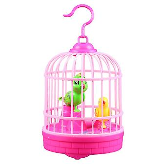 Singing And Chirping Bird In Cage Realistic Sounds Movements Bird Figurines